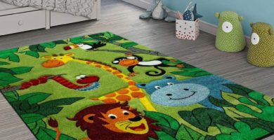 afombra infantil niños jungla leon jirafa hipopotamo mono alfombra infantil selva